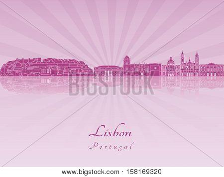 Lisbon V2 Skyline In Purple Radiant Orchid