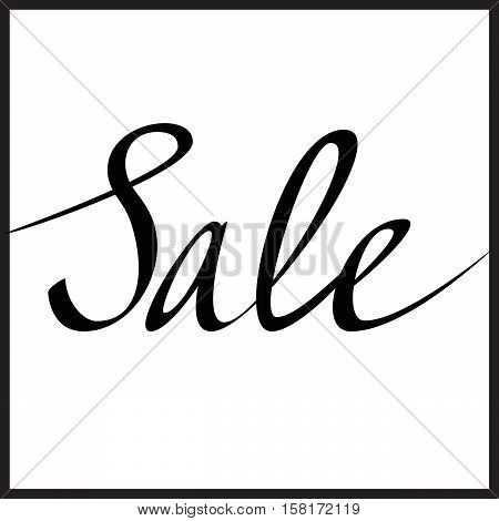 Sale Hand lettering, calligraphy in minimalist style
