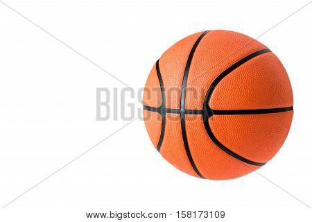Basketball ball over white background. Basketball isolated. orange color Basketball. single Basketball. Basketball closeup image. beautiful Basketball ball. Basketball is a team sport