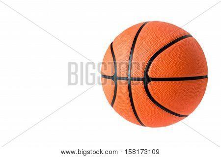 Basketball ball over white background. Basketball isolated. orange color Basketball. single Basketball. Basketball closeup image. beautiful Basketball ball. Basketball is a team sport