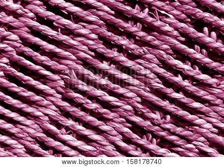 Pink Wicker Basket Braided Texture.