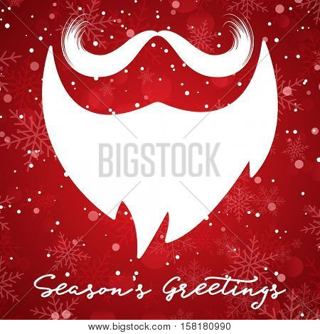 Christmas background with santa beard and moustache