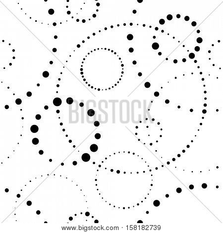 Seamless Circle Pattern. Abstract Vector Minimal Background. Contemporary Textile Ornament. Simple Circular Wallpaper