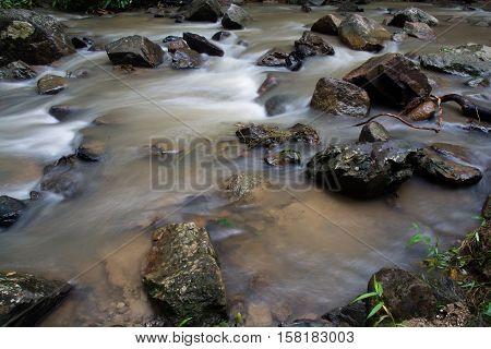 Huai-to Waterfall In Famous Krabi Seaside Town, Thailand.
