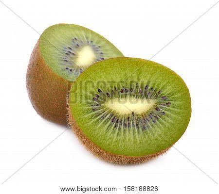sweet green freshness kiwi on white background