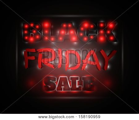 Black Friday Sale Glowing Text