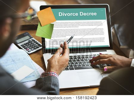 Divorce Agreement Decree Document Break up