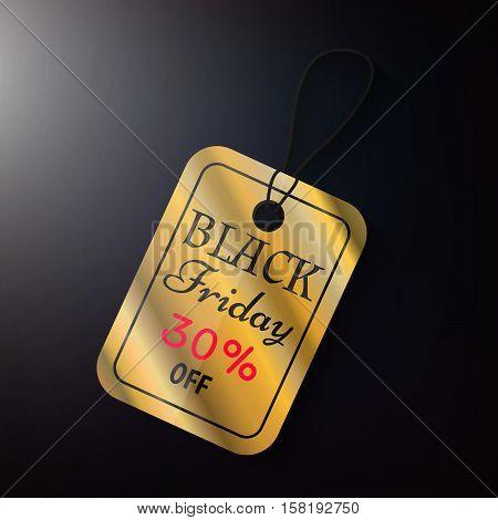 Black Friday Sales Gold Tag