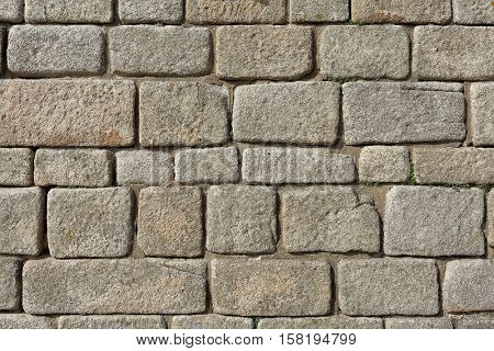 stone brick wall as background