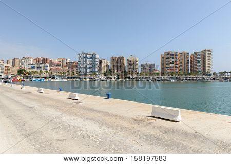 MALAGA SPAIN - SEPTEMBER 3: Port of Malaga Spain