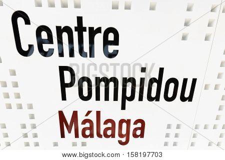 MALAGA SPAIN - SEPTEMBER 3: Centre Pompidou at Malaga Spain