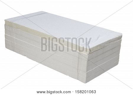 background and texture of white foamed polystyrene sheet