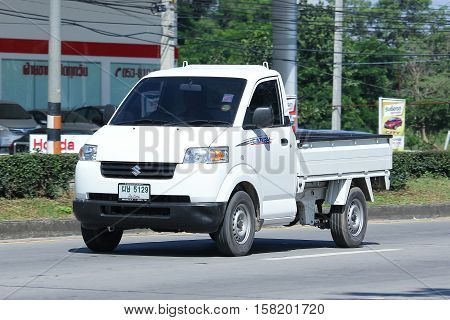 CHIANG MAI THAILAND - OCTOBER 27 2016: Private Suzuki Carry Pick up car. Photo at road no 121 about 8 km from downtown Chiangmai thailand.