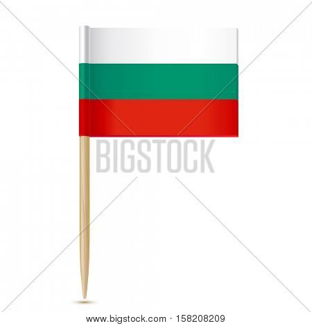 Bulgaria Flag. Flag toothpick on white background 10eps