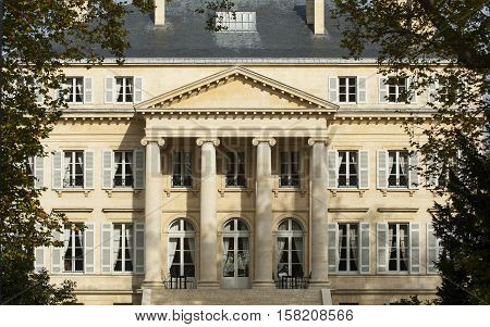 Chateau Margaux Bordeaux view from the main public street France