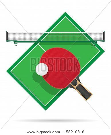 ping pong table vector illustration isolated on white background