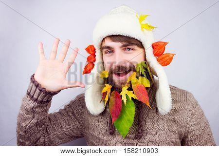 Autumn Decorated Beard