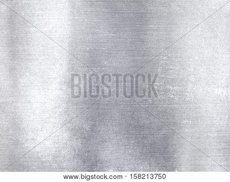 Wide Silver Metallic Aluminum Industrial Textured Background