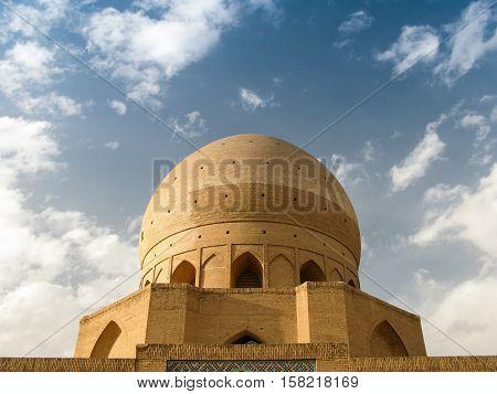 Dome of Agha Bozorg Madrasa and Mosque Kashan Iran