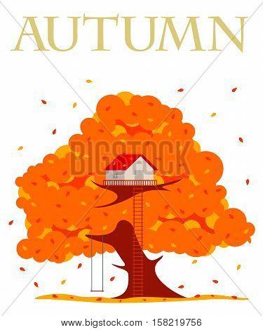 Tree House Vector Illustration