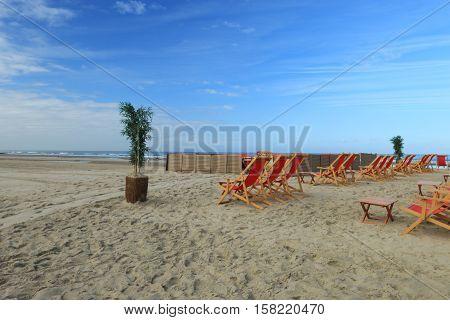 BEACH OF THE TOUQUET, PAS DE CALAIS, HAUTS DE FRANCE , FRANCE