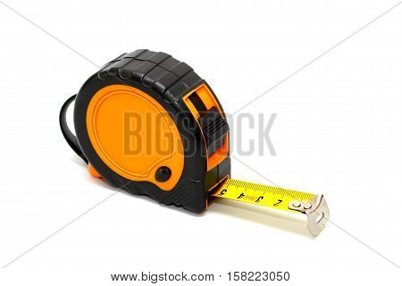 construction roulette on white background stock photo