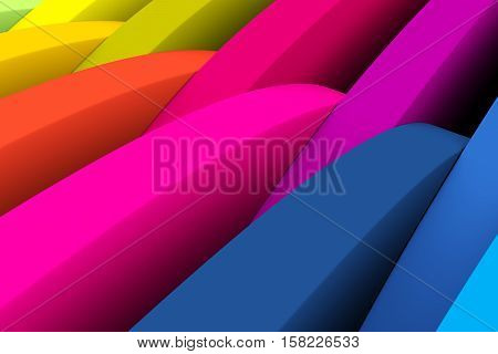 abstract colorful circle wheel background 3d illustration