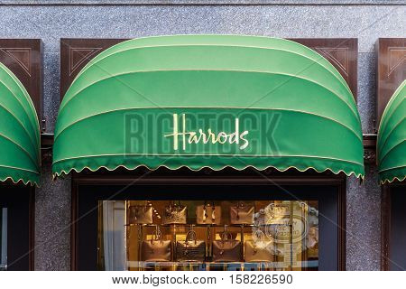 Display Windows Of Harrods In London