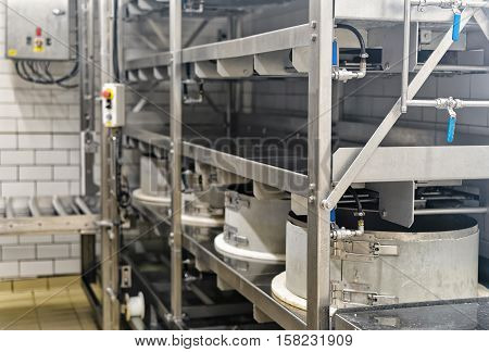 Automated Equipment In Creamery In Franche Comte France