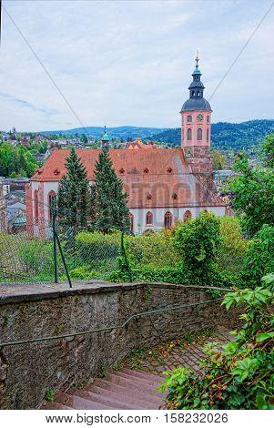 Baden Baden Church Stiftskirche In Germany