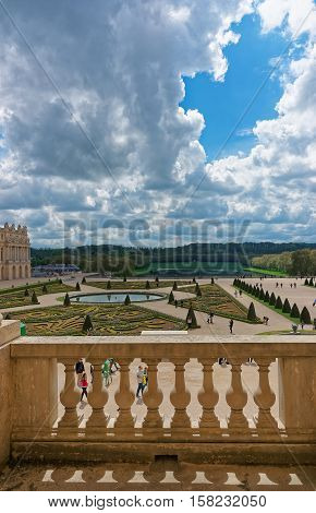 Balcony Of Palace Of Versailles In Paris