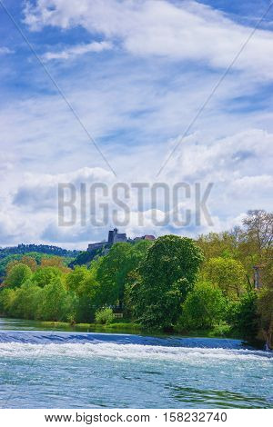 Besancon Citadel And Doubs River At Bourgogne Franche Comte France