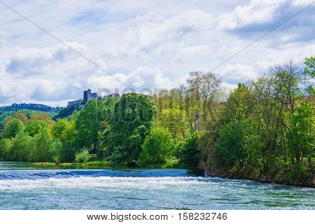 Besancon Citadel At Doubs River Of Bourgogne Franche Comte France