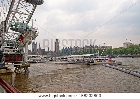 Big Ben And London Eye In London