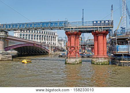 Blackfriars Bridge In London In Uk