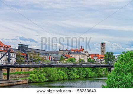 Bridge Over Regnitz River In Little Venice Bamberg