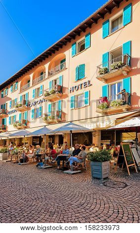 Cafes And Restaurants In Ascona In Ticino Switzerland