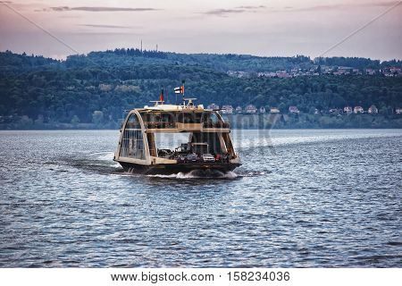 Car Ferry On Lake Constance Of Baden Wurttemberg