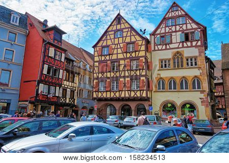 Cathedral Square In Colmar In Alsace In France