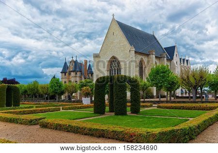Chapel Of Chateau Angers In Loire Valley In France
