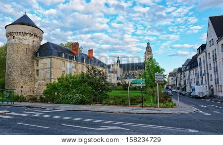 Chateau And Cathedral Of Tours In Loire Valley