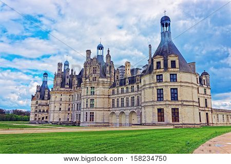 Chateau De Chambord Palace In Loire Valley France