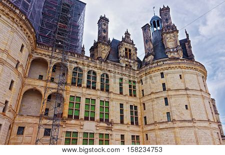 Chateau De Chambord Palace At Loire Valley In France