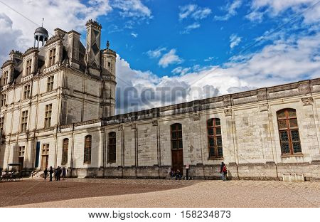 Chateau De Chambord Palace Of Loire Valley In France
