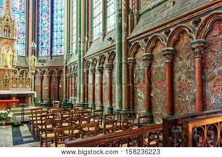 Choir Of Amiens Cathedral Of Notre Dame In Picardy France