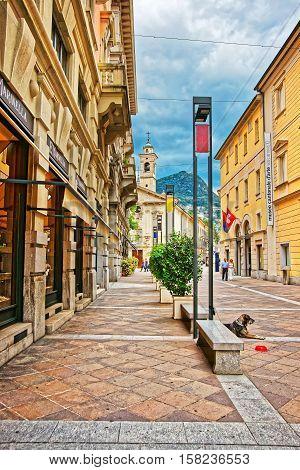 Church Of St Rocco In Lugano Ticino In Switzerland