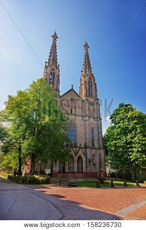 City Church In The Center Of Baden Baden Germany