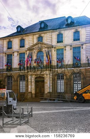 City Hall In Rennes Of Brittany In France