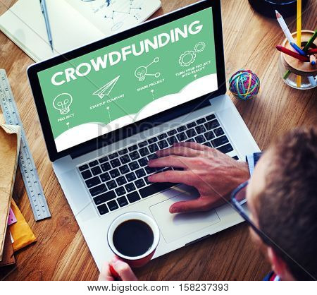 Crowdfunding Project Plan Strategy Business Graphic Concept