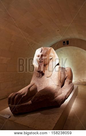 Crypt Of Sphinx At Louvre Museum In Paris